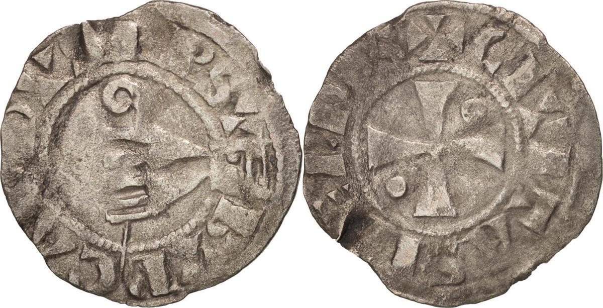 Denarius Meaux Frankreich Bishopric of Meaux, Bouchard, SS, Silber, Boudeau:1773 SS