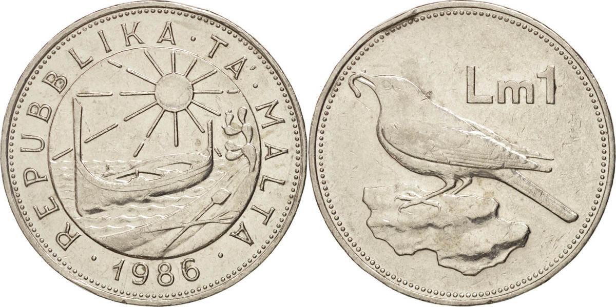 Lira 1986 Malta VZ, Nickel, KM:82 VZ