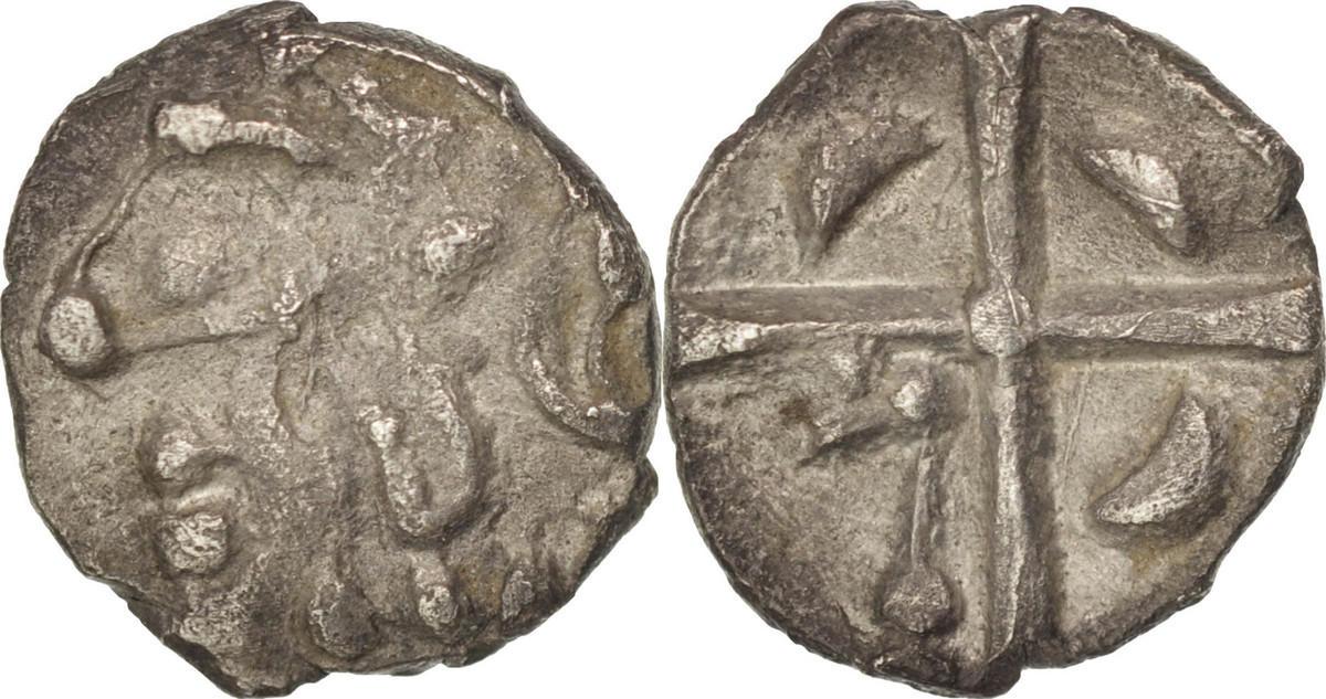 Obol  Cadurci, Obol à la tête triangulaire, SS, Silber, Savès:420-423 SS
