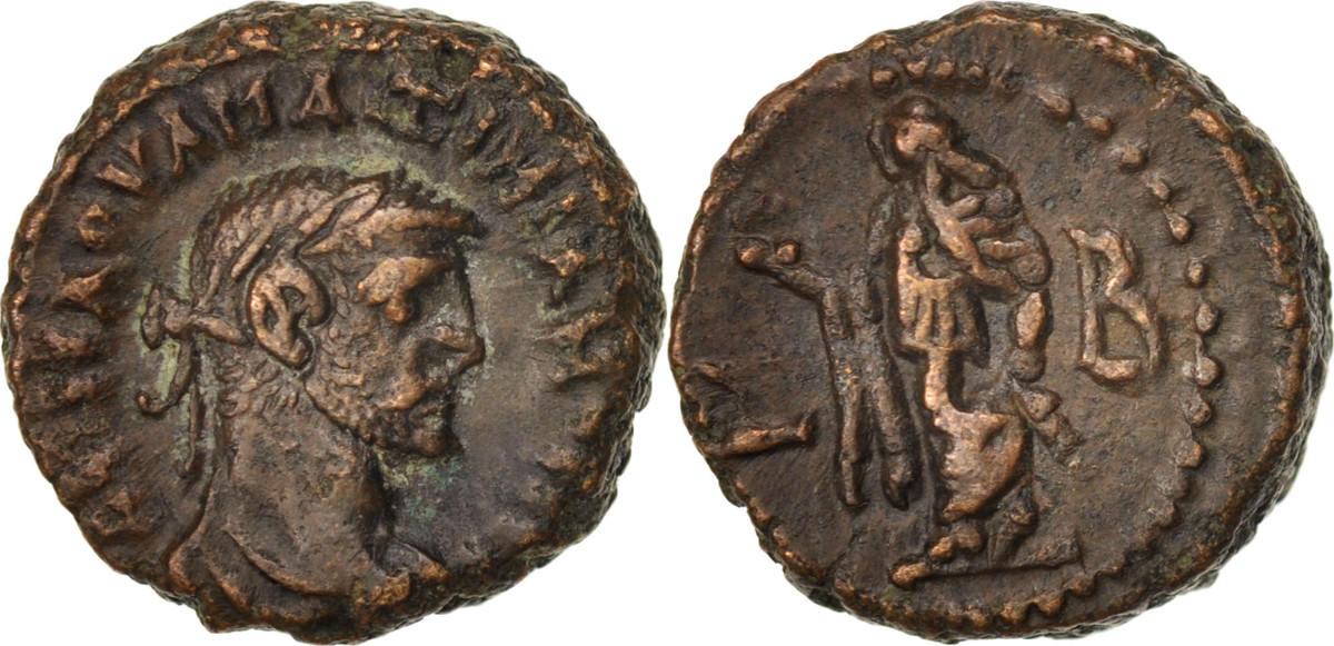Tetradrachm Alexandria Maximianus, Year 2, Alexandria, SS+, Billon, Milne:4814 SS+