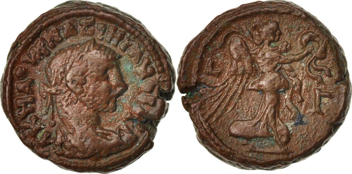 Tetradrachm Alexandria Maximianus, Year 3, Alexandria, SS+, Billon, Milne:4881 SS+