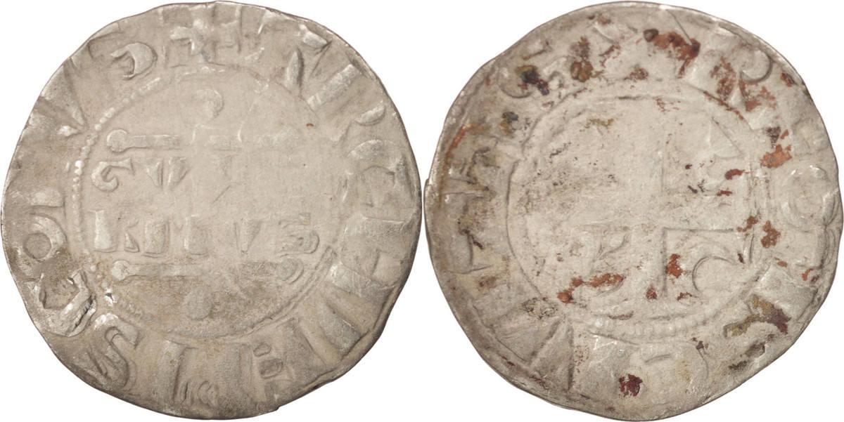 Denarius Reims Frankreich Champagne, Guillaume I, Reims, S, Silber, Boudeau:1790 S