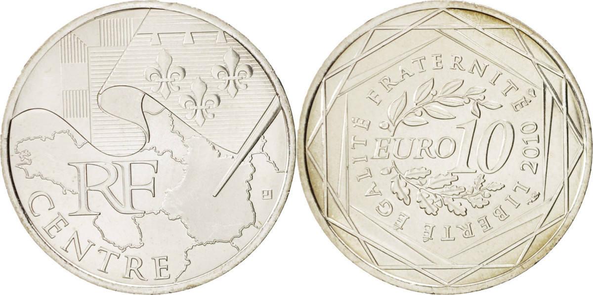 10 Euro 2010 Paris Frankreich 10 Euro Centre, STGL, Silber, KM:1650 STGL