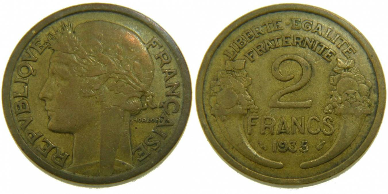 2 Francs 1935 Frankreich Morlon VF(30-35)
