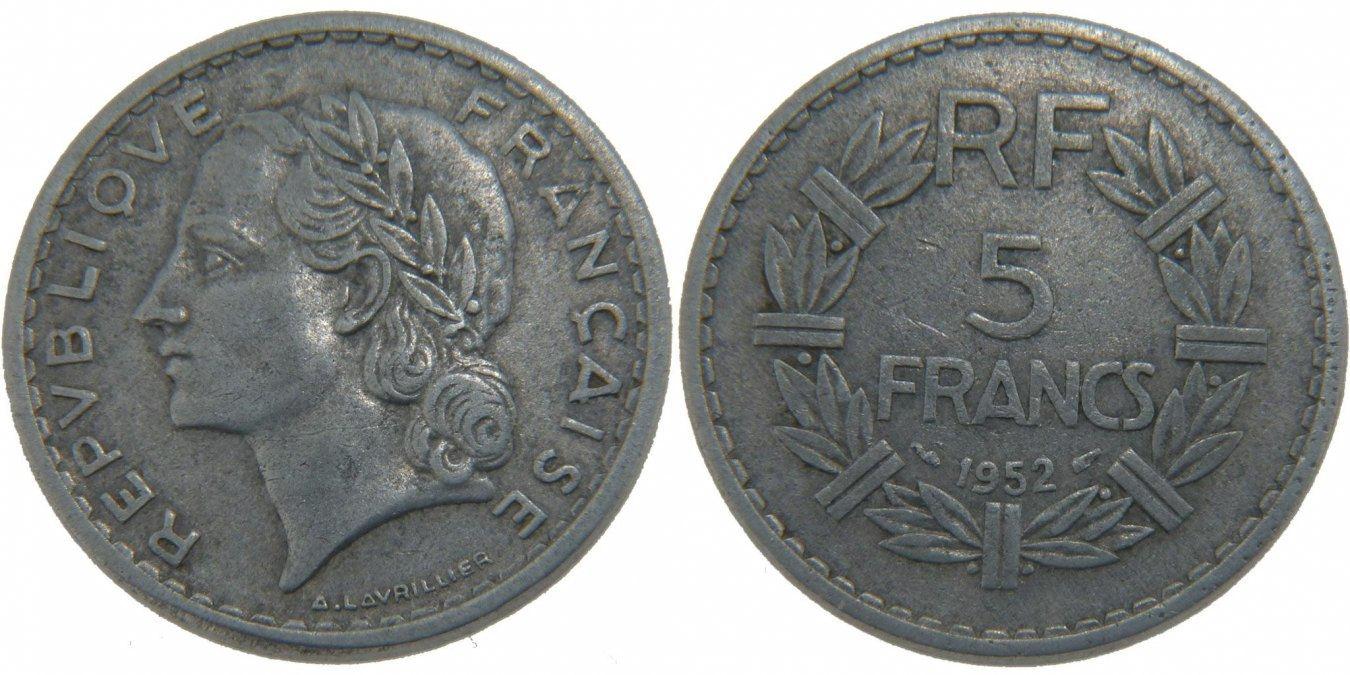 5 Francs 1952 Paris Frankreich Lavrillier EF(40-45)