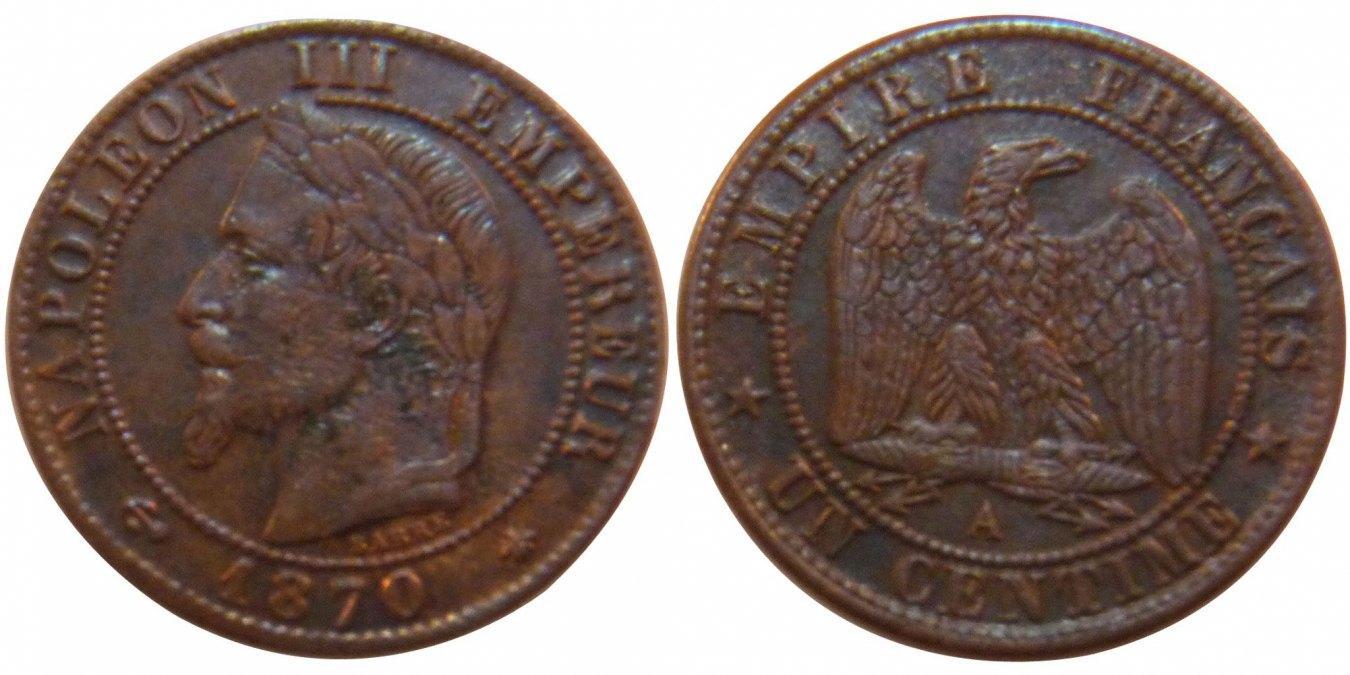 Centime 1870 A Frankreich Napoléon III Napoleon III EF(40-45)
