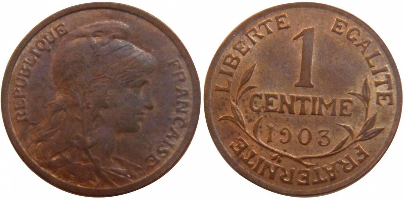 Centime 1903 Frankreich Dupuis AU(55-58)