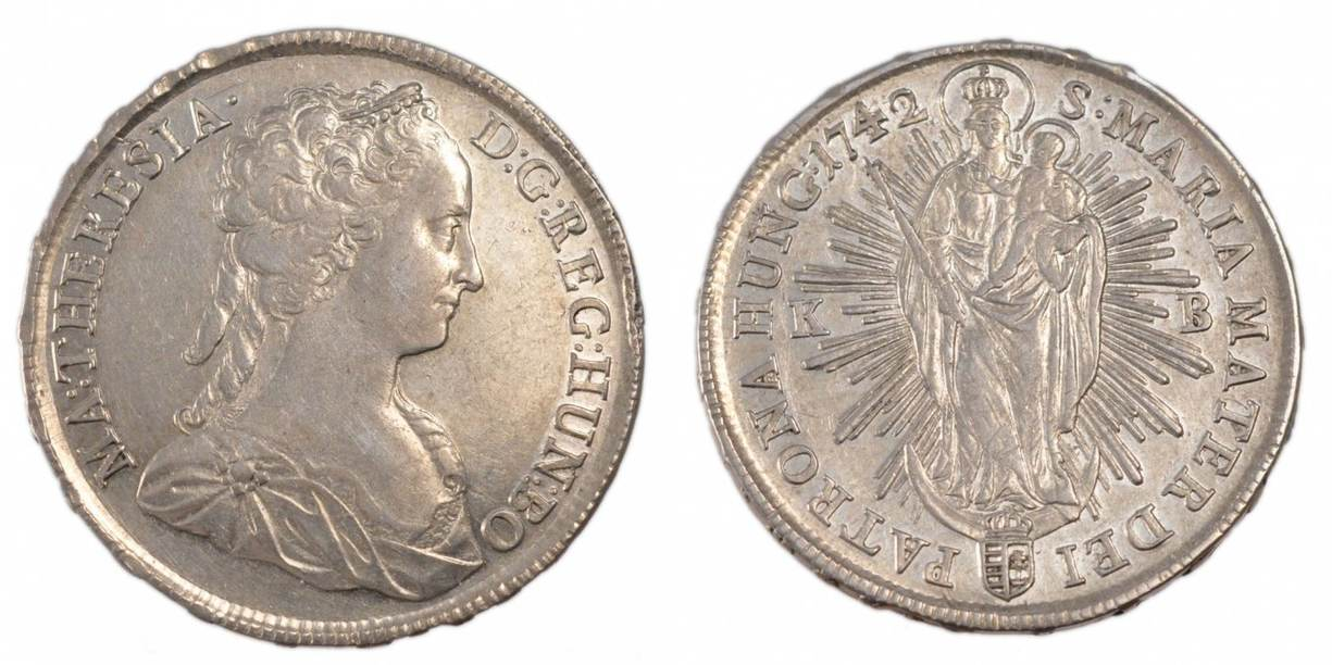 Thaler 1742 Kb Ungarn Münze Maria Theresia Ss Silber Km3283