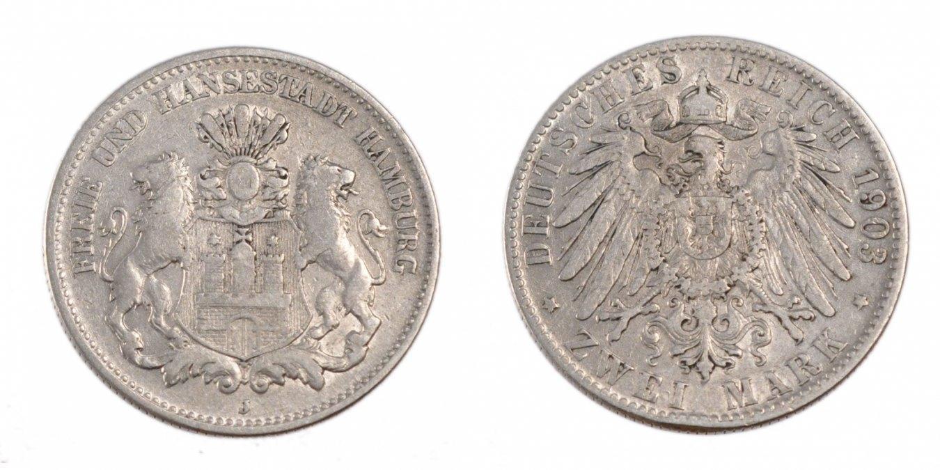 2 Mark 1903 J Deutsch Staaten EF(40-45)