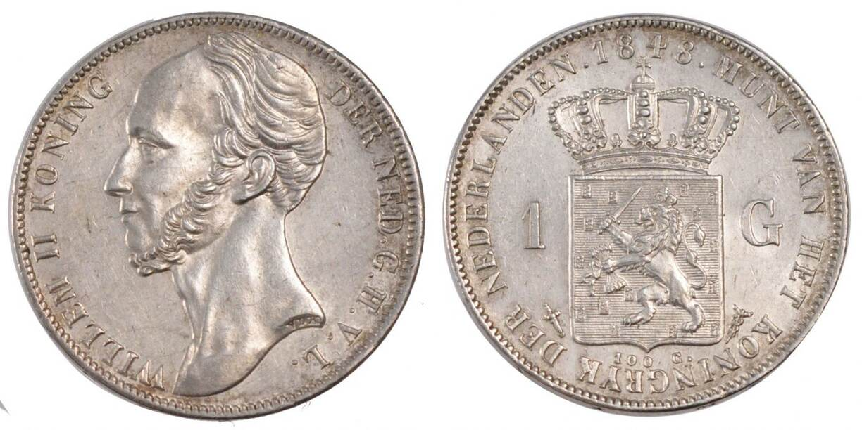 Gulden 1848 Niederlande William II MS(60-62)