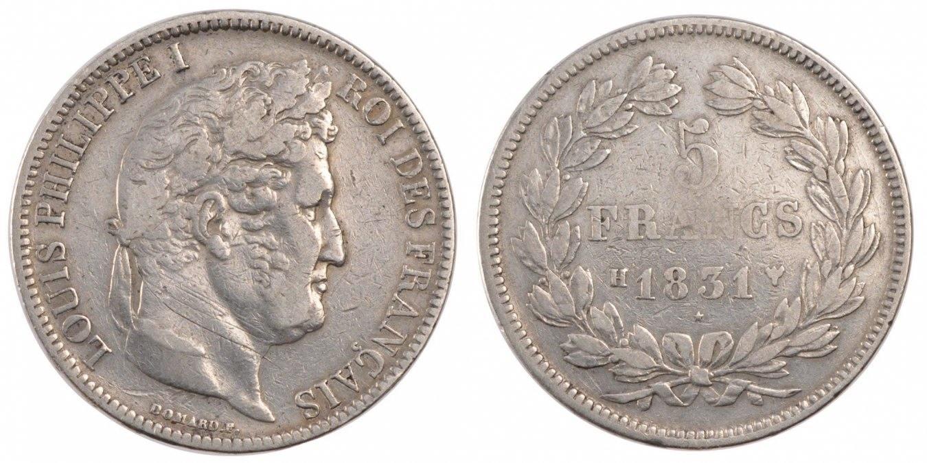 5 Francs 1831 H Frankreich Louis-Philippe VF(20-25)