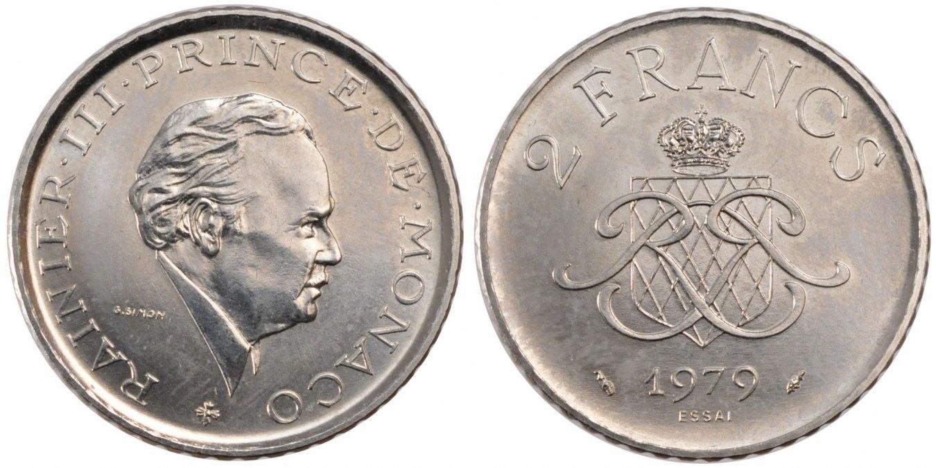 2 Francs 1979 Monaco MS(60-62)