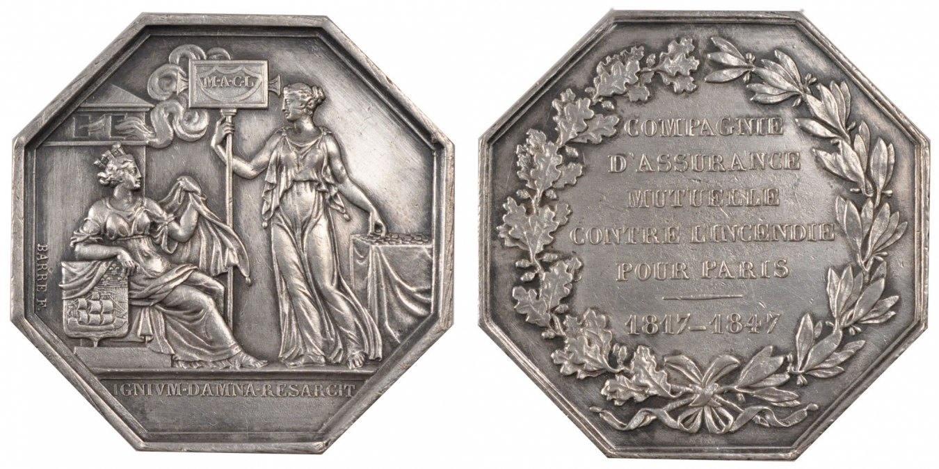 Token 1847 Frankreich AU(55-58)