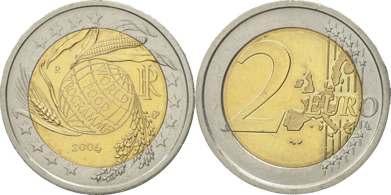 2 Euro 2004 R Italien World Food Programme Vz Bi Metallic Km 237 Vz Ma Shops
