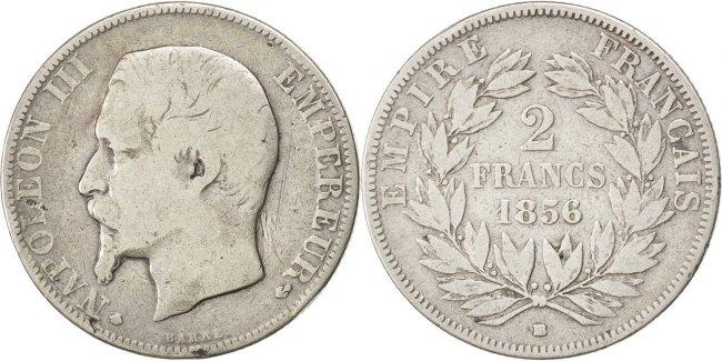 2 Francs 1856 BB Frankreich Napoléon III Napoleon III VF(20-25)