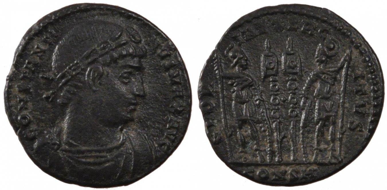 Nummus Constantinople Constantine I, Constantinople, Copper, Cohen #254, 1.90 VZ