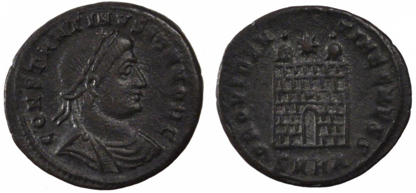 Nummus Heraclea Constantine II, Heraclea, Copper, Cohen #164, 2.60 SS+