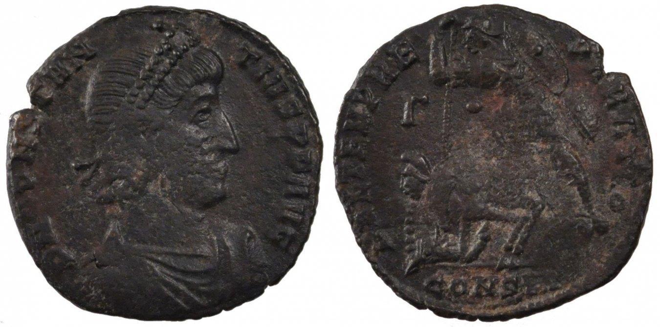 Maiorina Constantinople Constantius II, Constantinople, Copper, Cohen #44, 3.70 SS