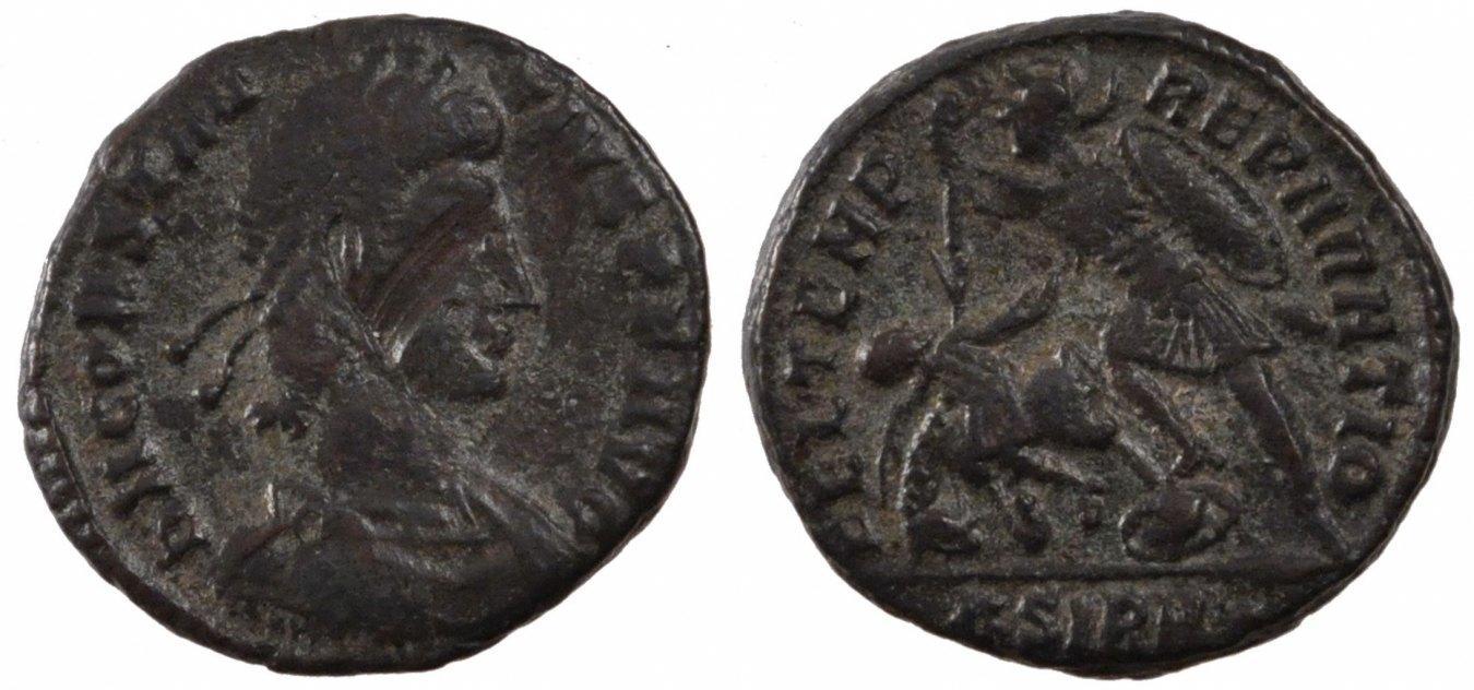 Nummus Sirmium Constantius II, Sirmium, Copper, Cohen #45, 4.10 SS+