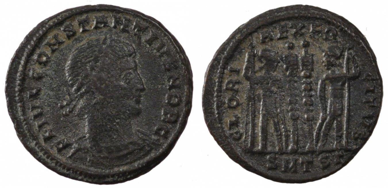 Nummus Thessalonica Constantius II, Thessalonica, Copper, Cohen #104, 2.80 SS+