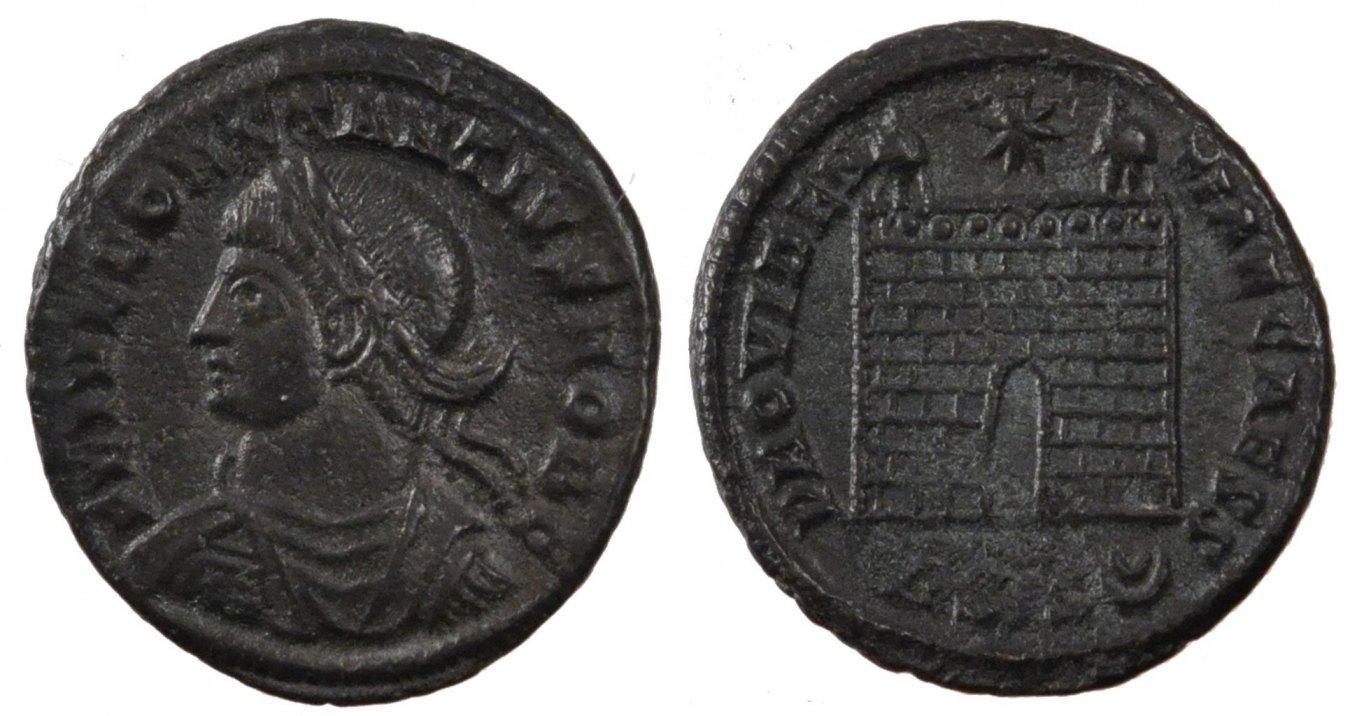 Nummus Siscia Constantius II, Siscia, Copper, Cohen #167, 3.20 VZ