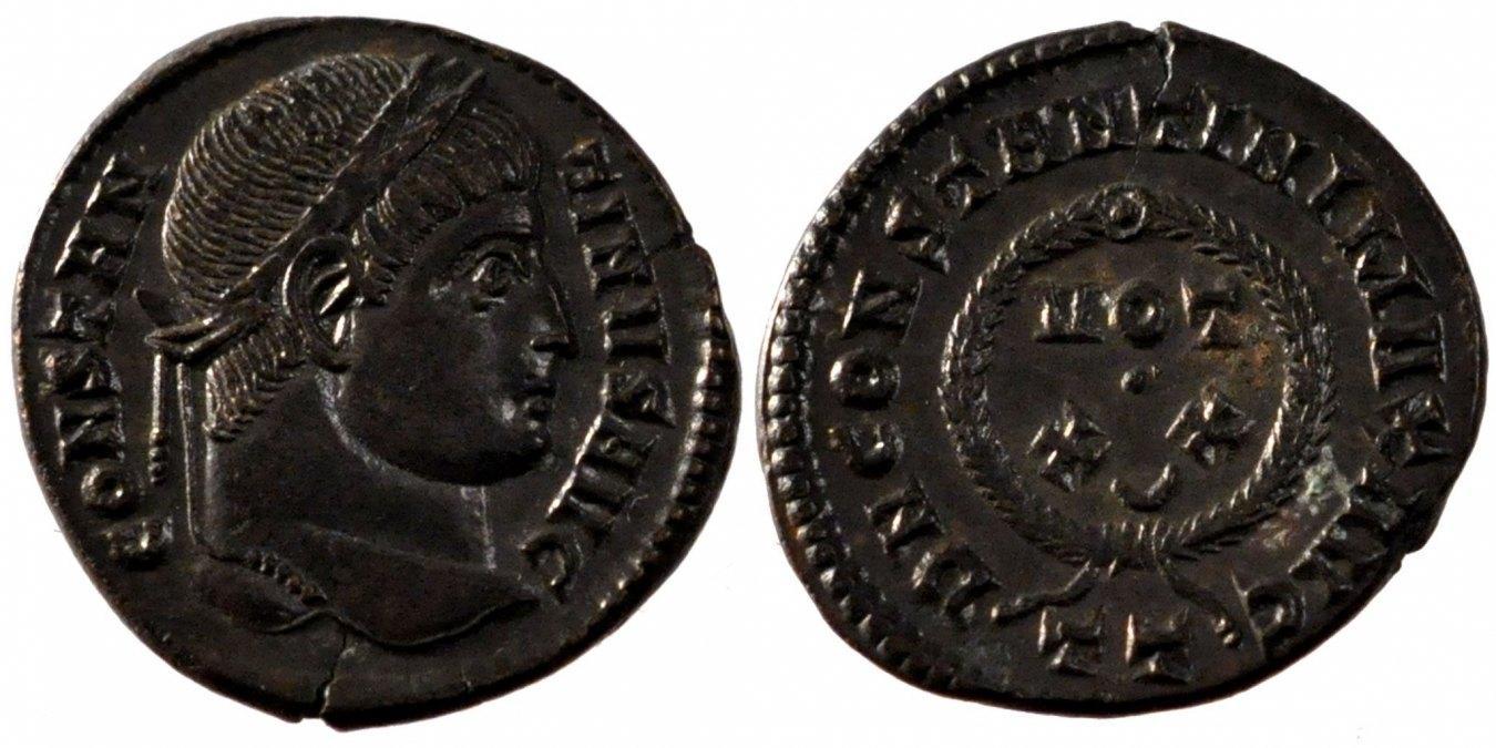 Nummus Ticinum Constantine I AU(55-58)