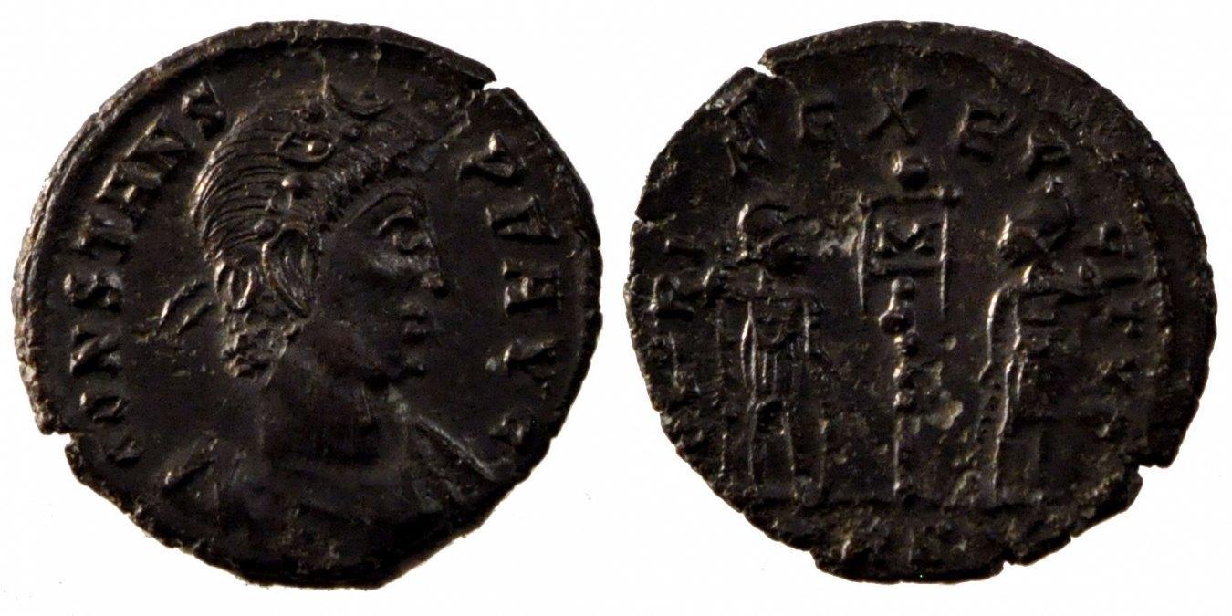 Nummus Trier Constans AU(50-53)