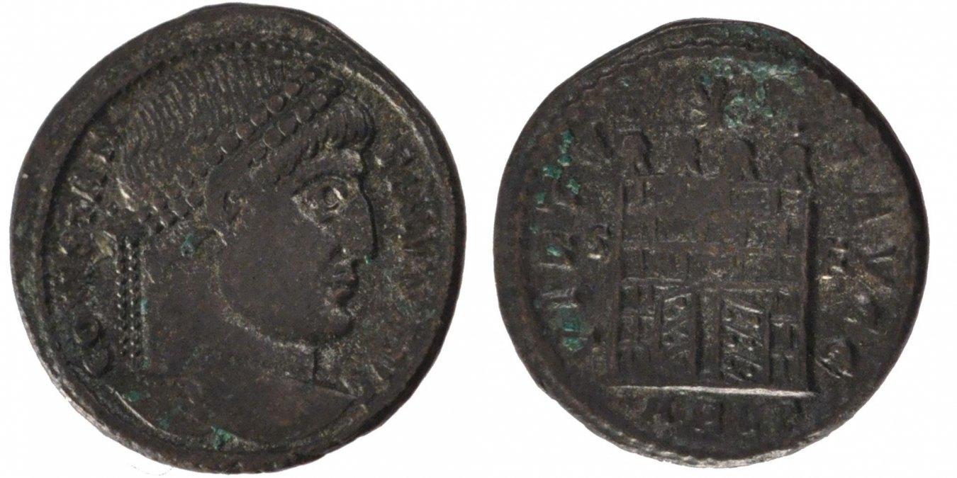 Nummus Arles Constantine I AU(55-58)