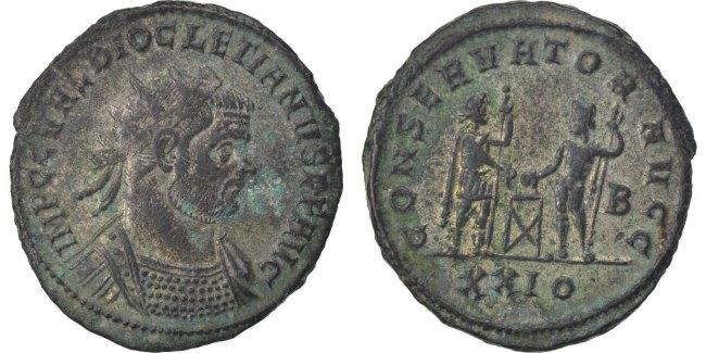 Antoninianus Siscia Diocletian MS(60-62)