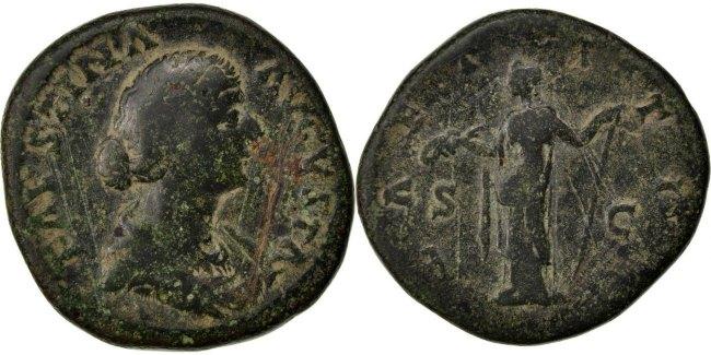 Sestertius Roma Faustina II AU(50-53)