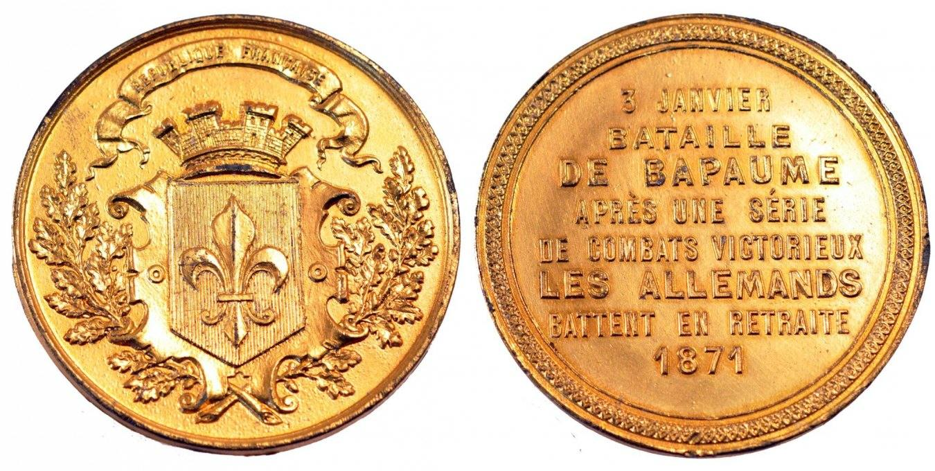 Medal 1871 Frankreich AU(50-53)