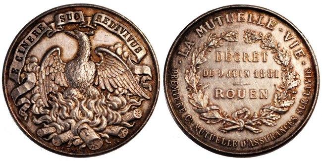 Medal 1881 Frankreich AU(50-53)