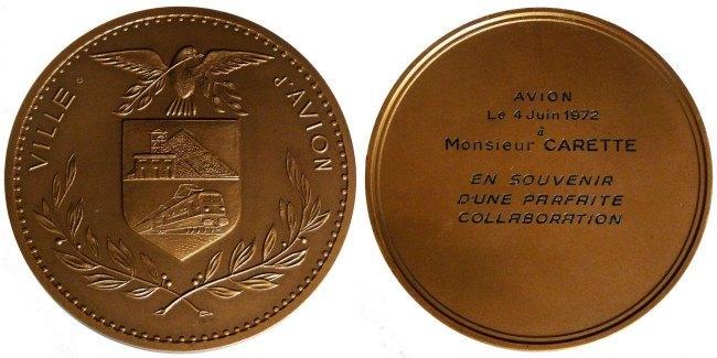 Medal 1972 Frankreich AU(55-58)