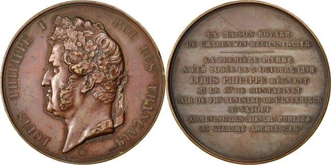 Medal 1838 Frankreich AU(55-58)