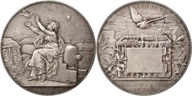 Medal 1871 Frankreich AU(55-58)