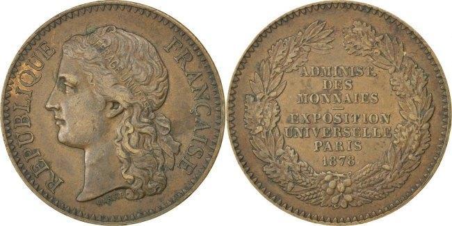 Medal 1878 Frankreich AU(50-53)