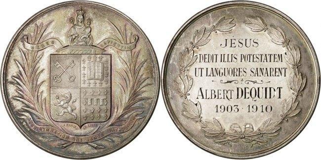 Medal 1910 Frankreich AU(55-58)