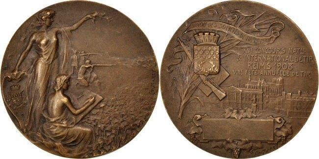 Medal 1908 Frankreich AU(55-58)