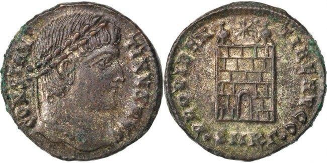 Nummus Kyzikos Constantine I AU(50-53)