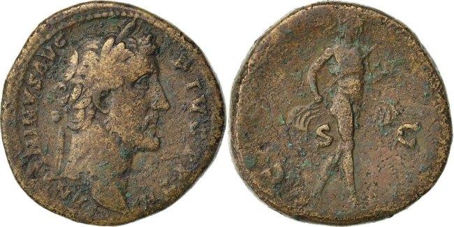 Sestertius Roma Antoninus Pius VF(20-25)