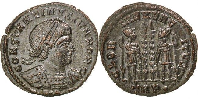 Nummus Trier Constantine II AU(55-58)