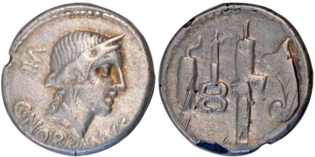 Denarius Roma Norbana EF(40-45)