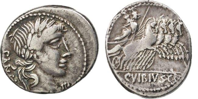 Denarius  Vibia AU(50-53)
