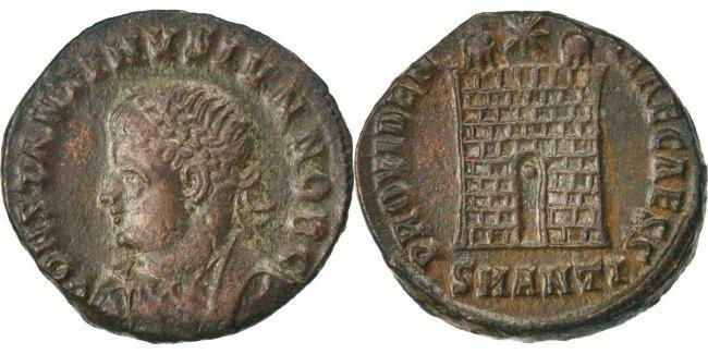Nummus Antioch Constantine II EF(40-45)