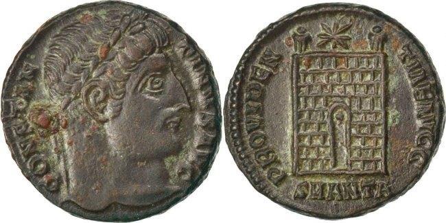 Nummus Antioch Constantine I AU(50-53)