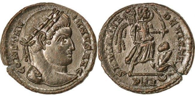 Nummus Trier Constantine I AU(55-58)