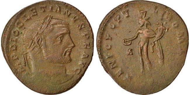 Follis  Diocletian EF(40-45)