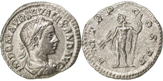 Denarius  Severus Alexander AU(50-53)
