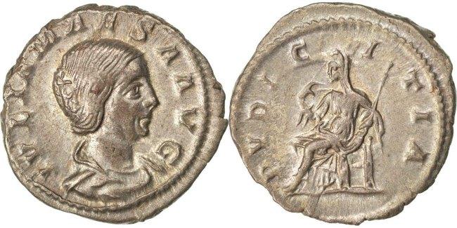 Denarius  Julia Maesa AU(55-58)