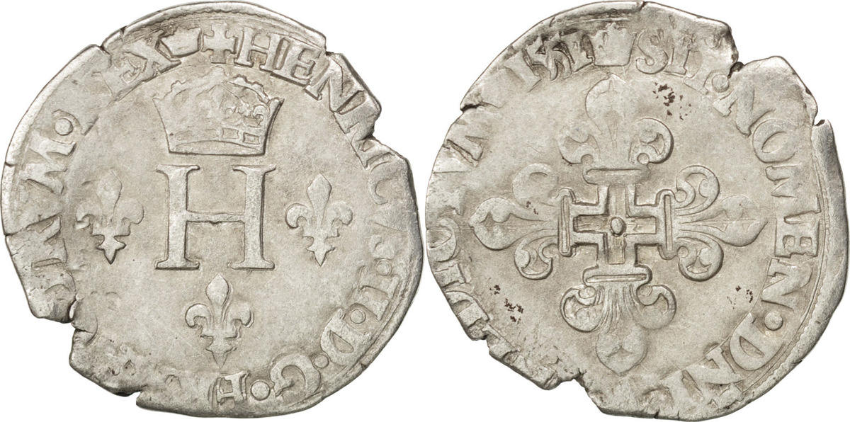 Demi Gros de Nesle 1551 Paris Frankreich 1547-1559 Henri II VF(30-35)